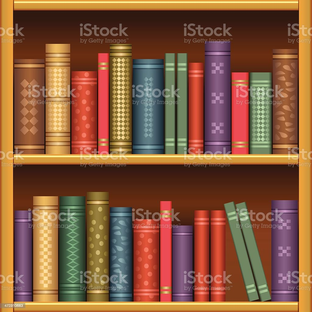 Bookshelf royalty-free stock vector art