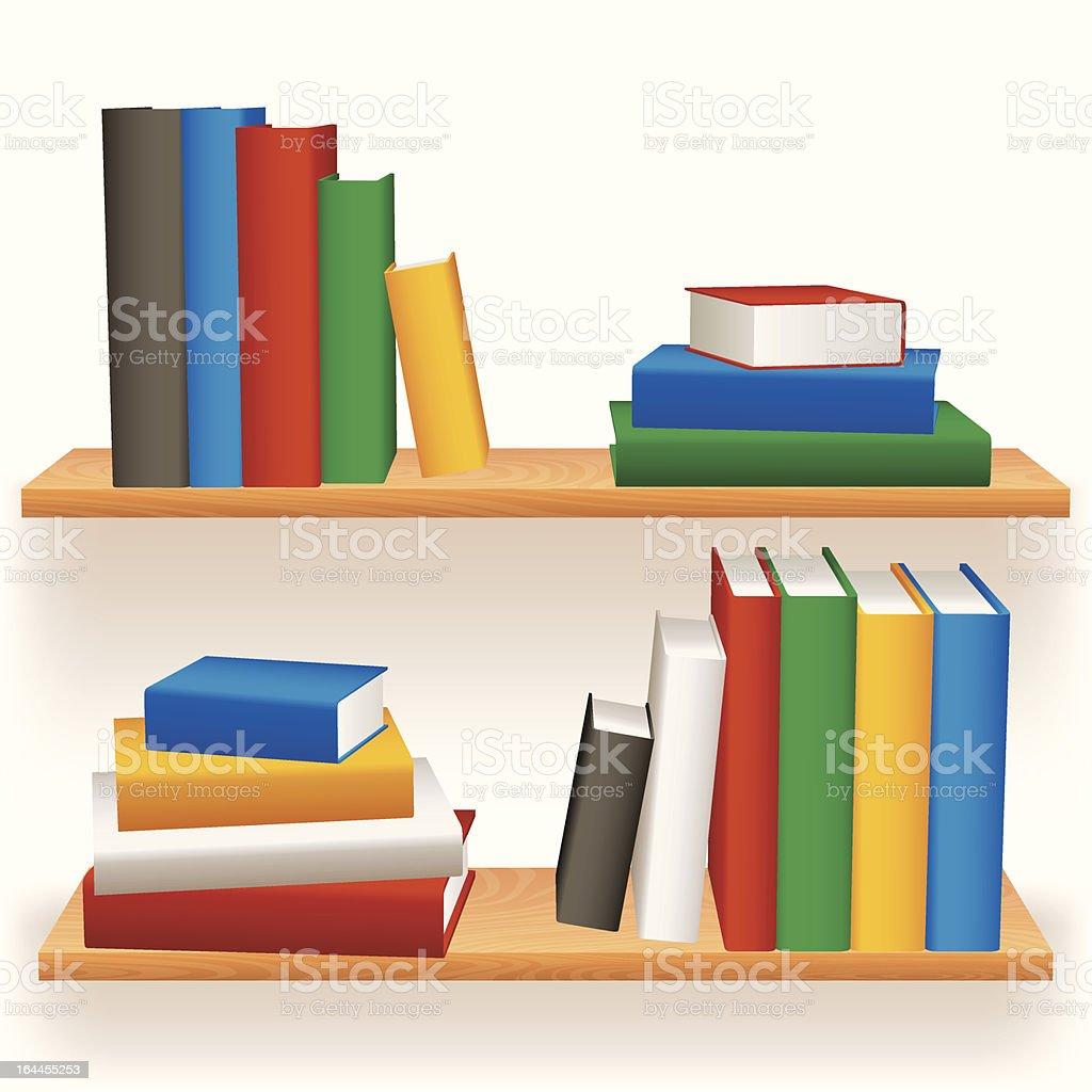 Bookshelves. royalty-free stock vector art