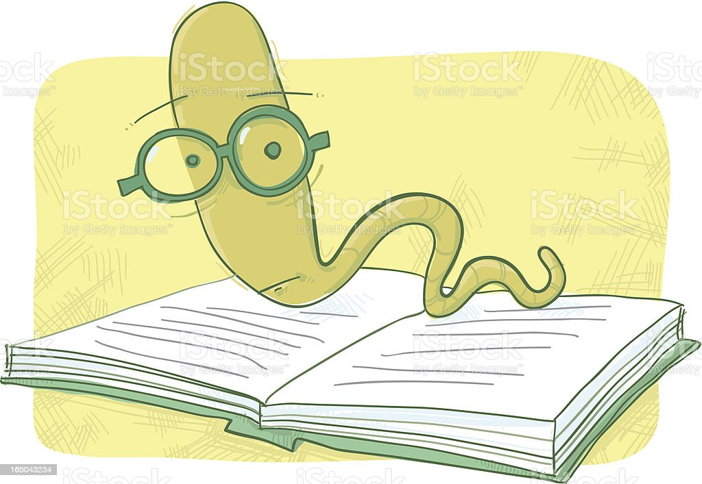 Bookworm royalty-free stock vector art