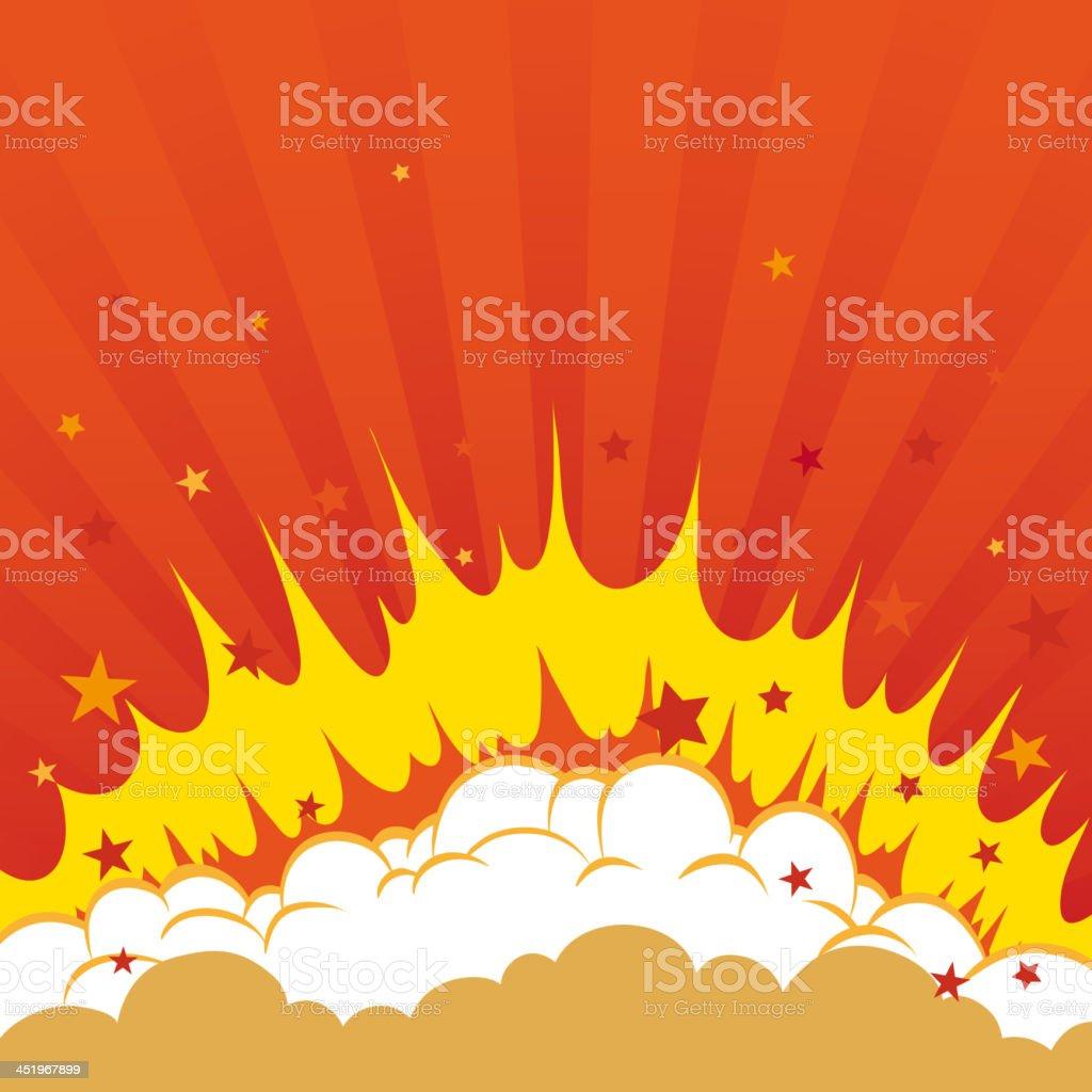 Boom. Comic book explosion royalty-free stock vector art
