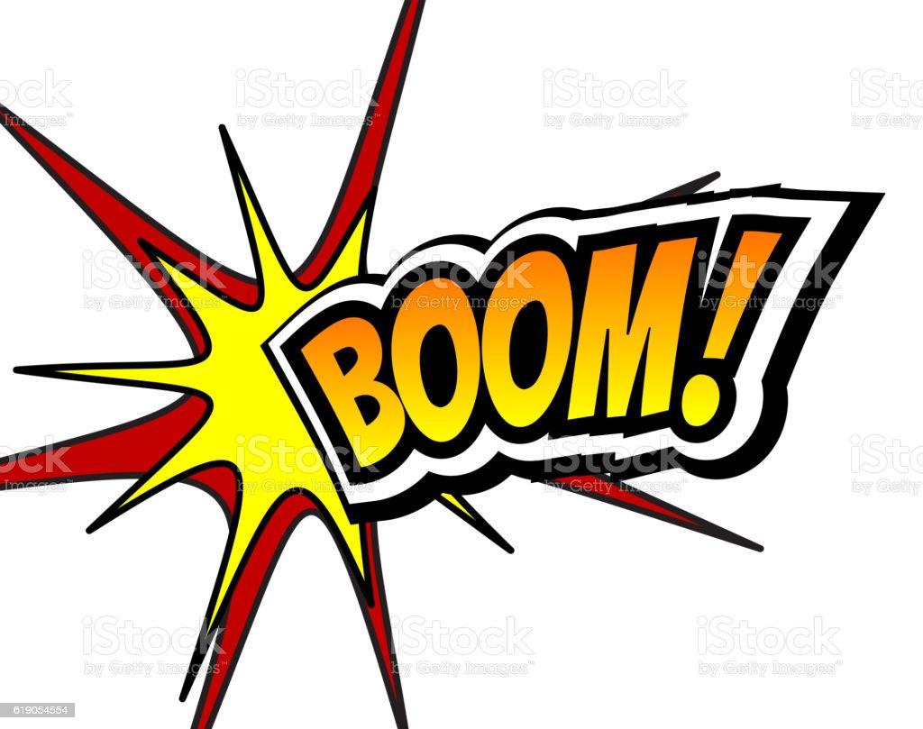 Boom Comic Speech Bubble, Cartoon. Pop art Background Vector Illustration vector art illustration