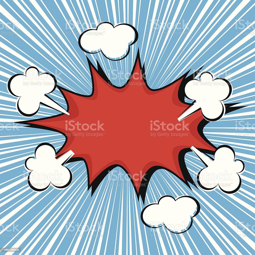 Boom comic speech bubble, vector illustration royalty-free stock vector art