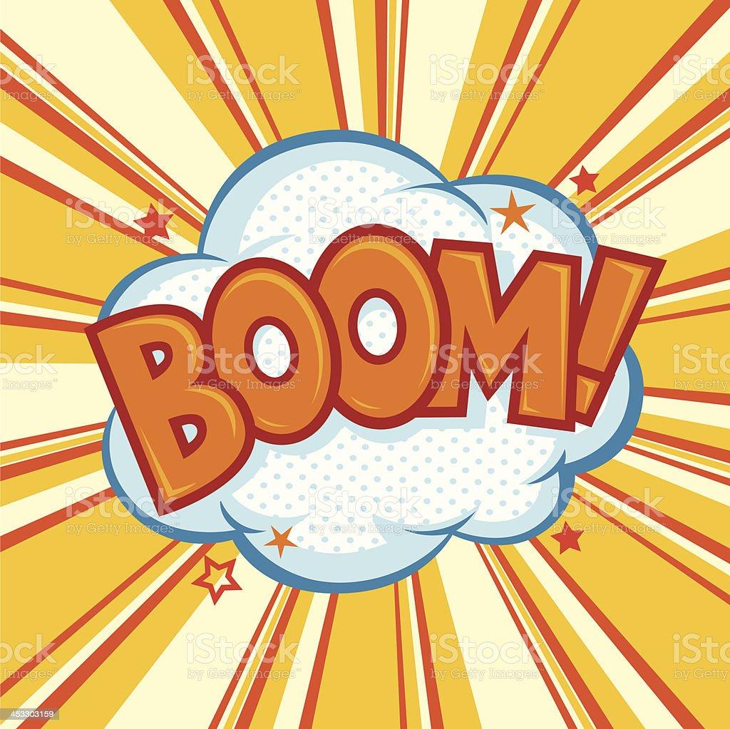 Boom Effect vector art illustration