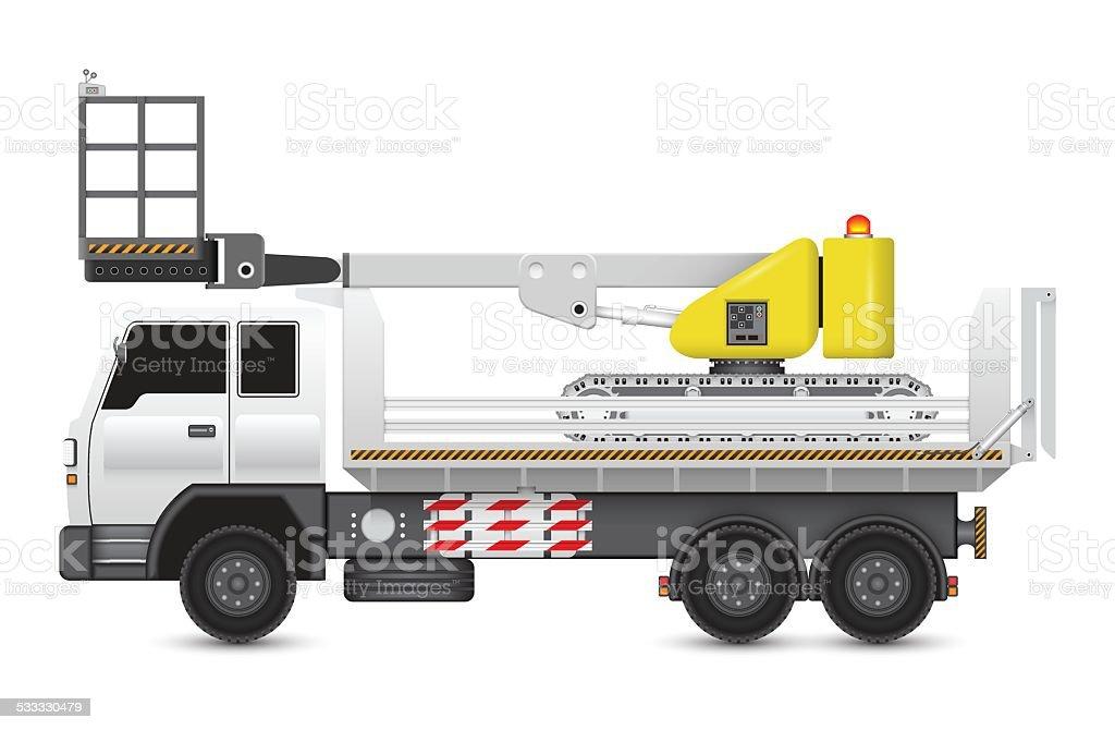 Boom lift vector art illustration