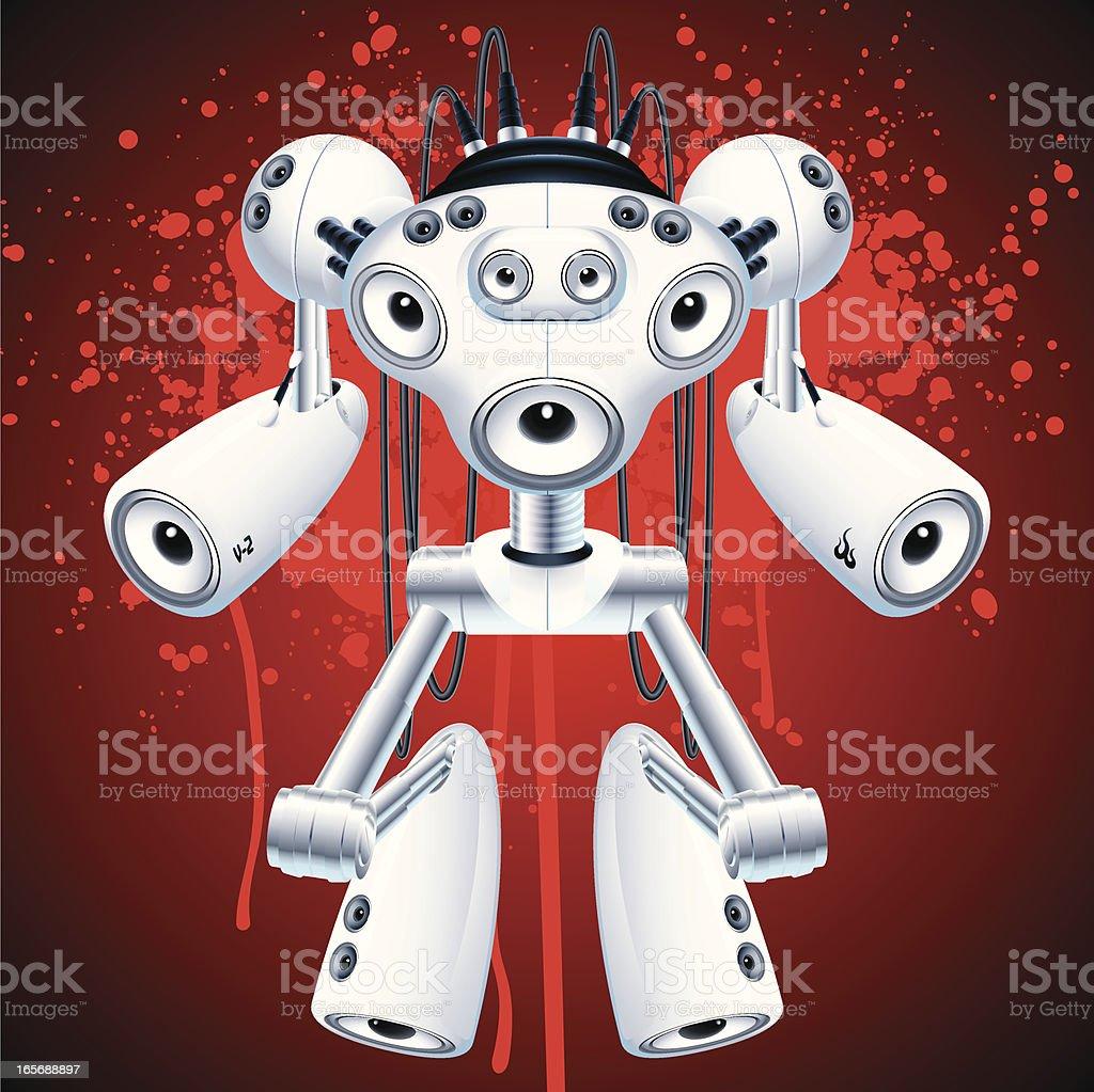 boombot V-2 royalty-free stock vector art