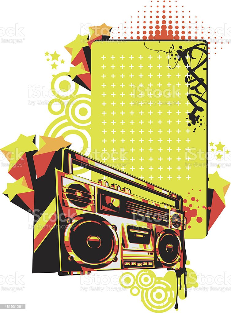 Boombox tag royalty-free stock vector art