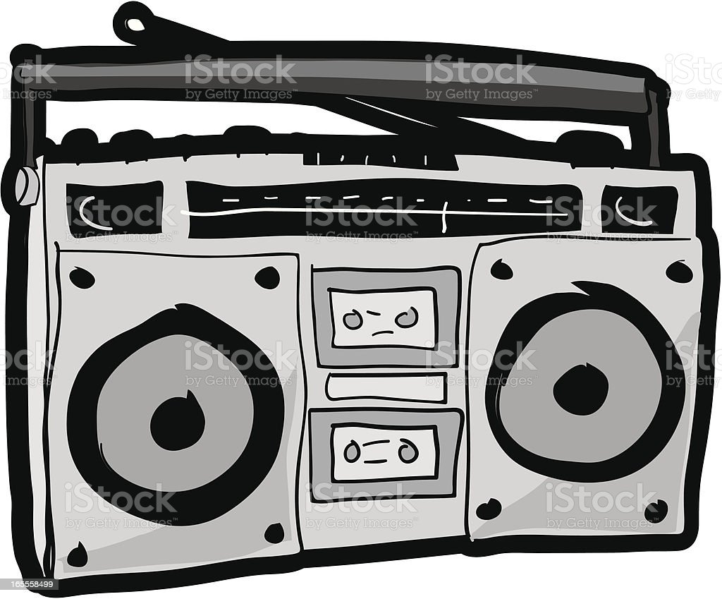 Boombox vector art illustration