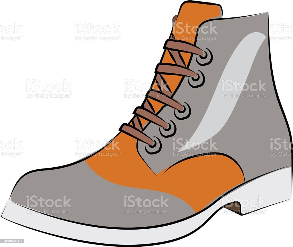Boot Hand Drawn Sketchy Vector Icon vector art illustration