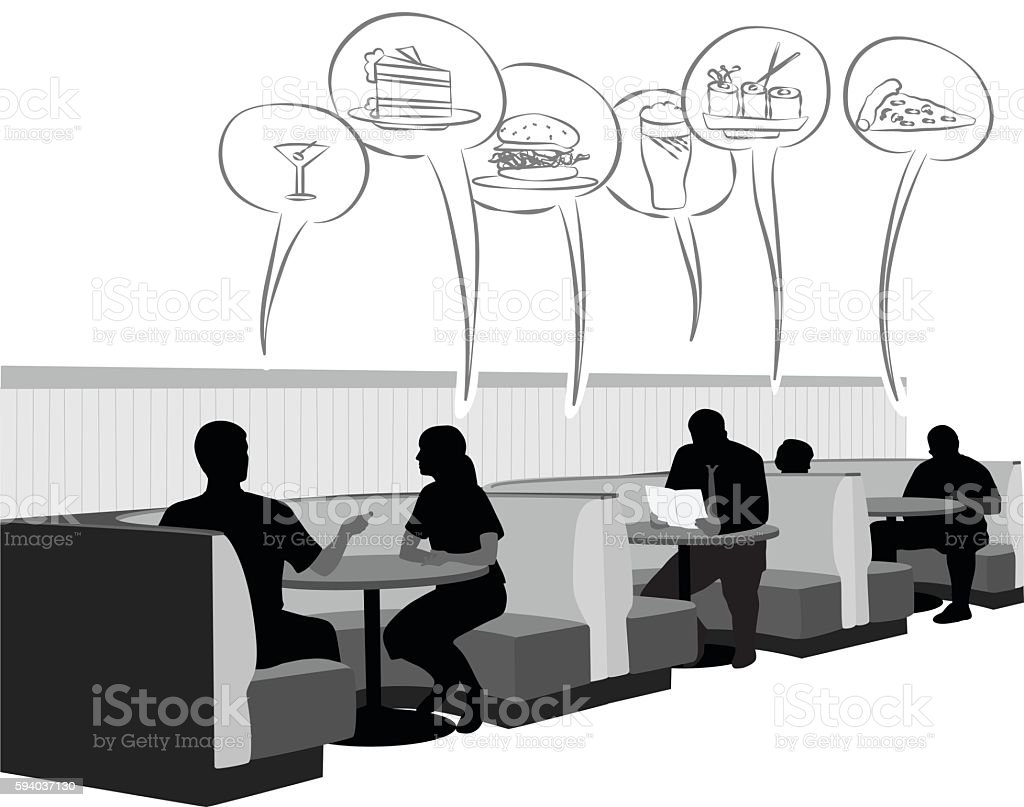Booth Food Cravings vector art illustration
