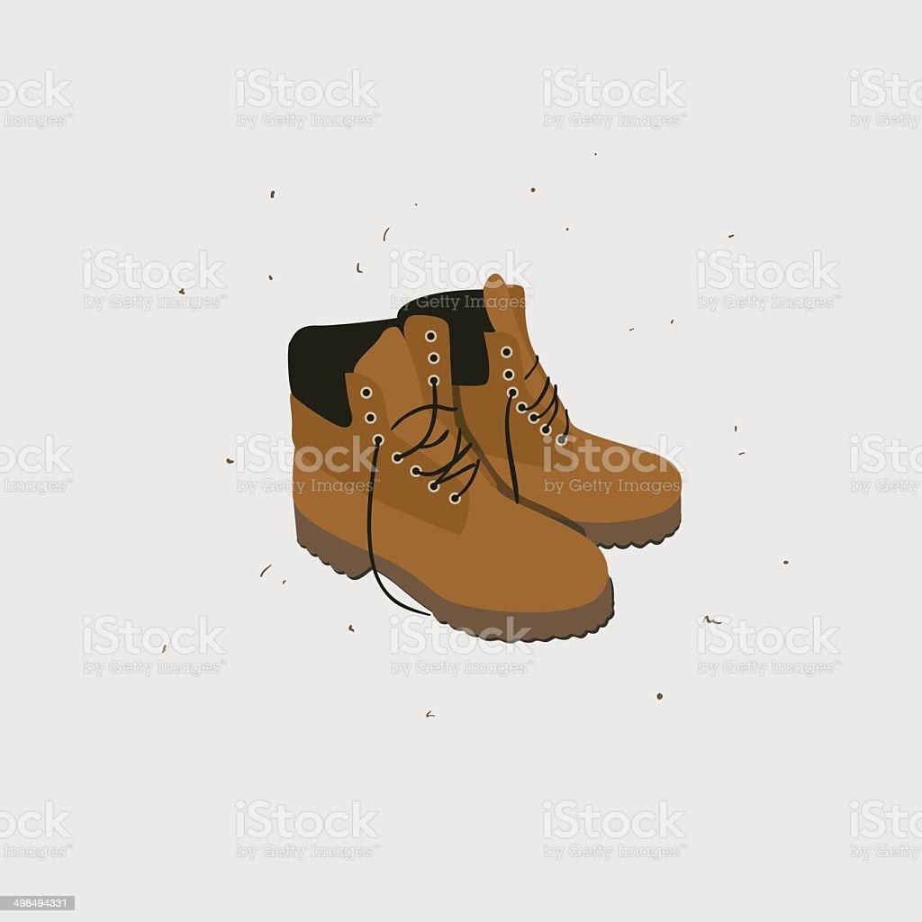 Boots vector art illustration