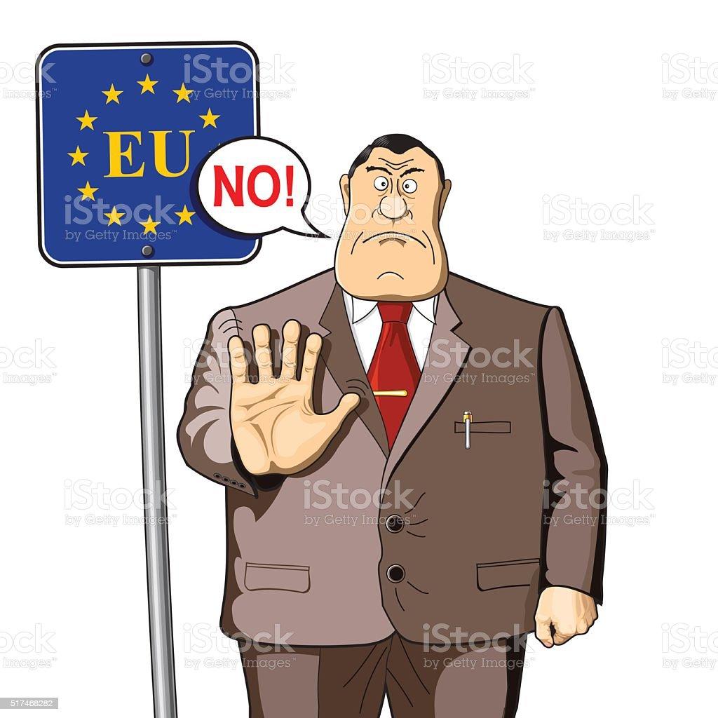 EU border control, immigration, politics or economics. vector art illustration