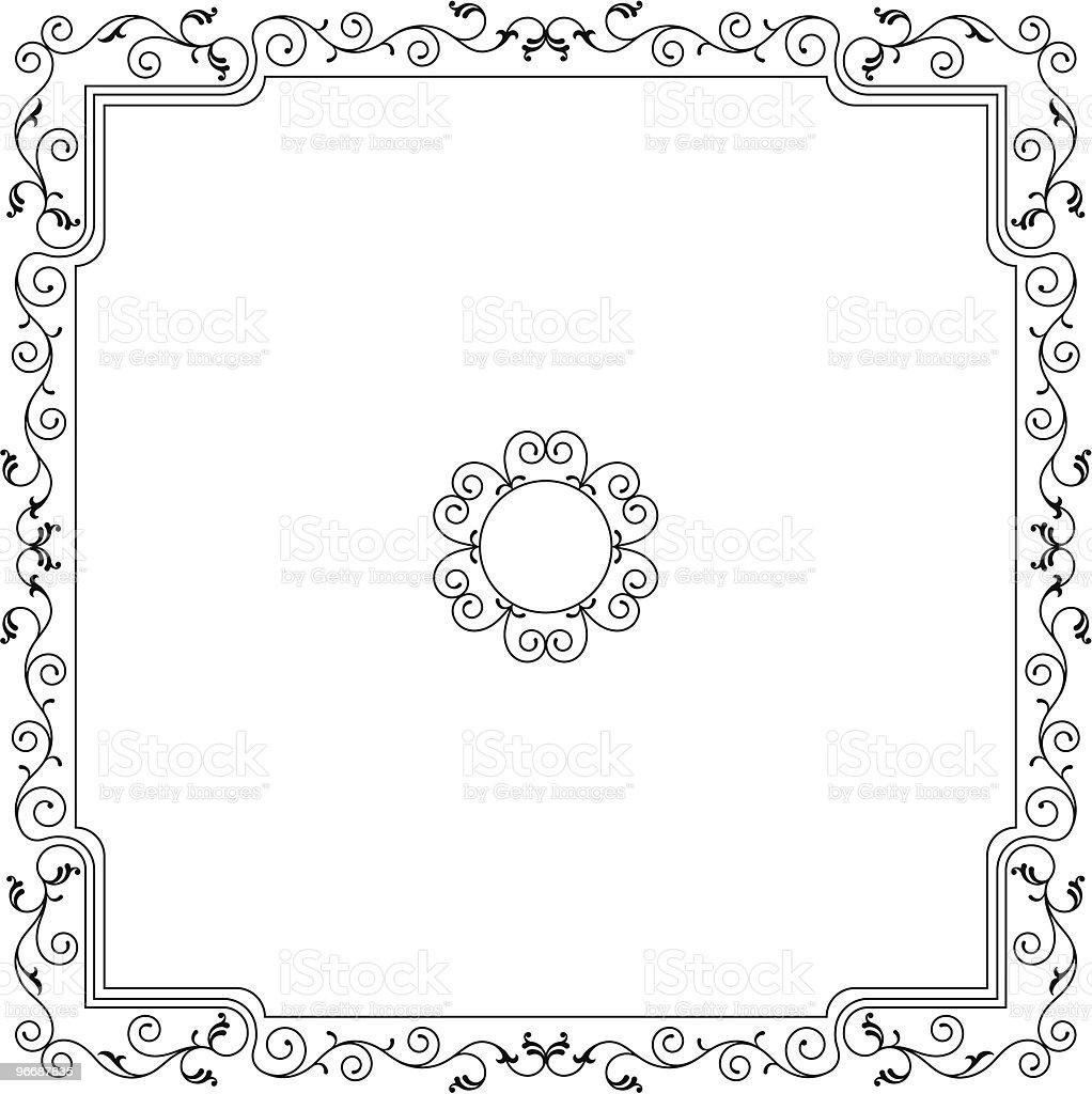 Border, Frame, Center Piece Design royalty-free stock vector art