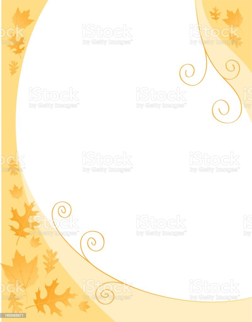 Border of autumn leaves royalty-free stock vector art