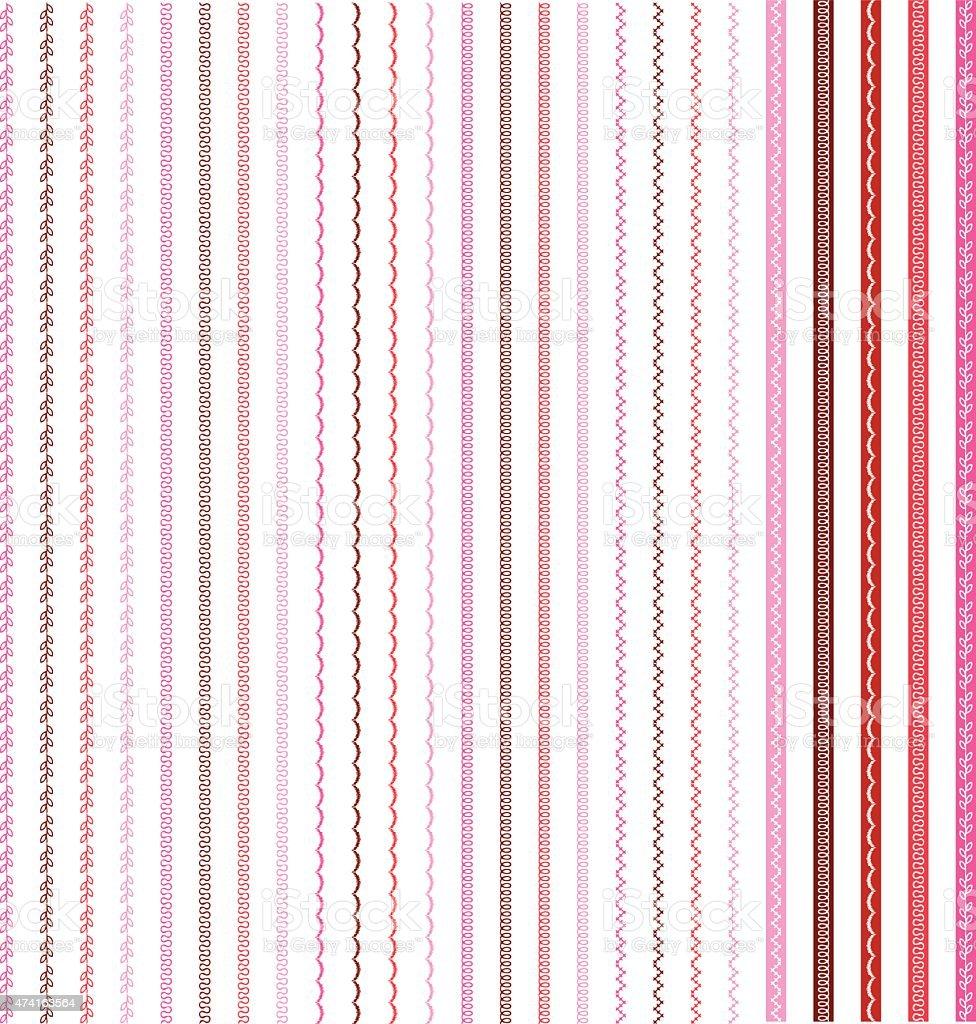 Border Patterns vector art illustration
