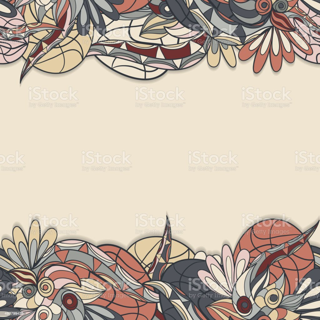 border with abstract hand-drawn pattern vector art illustration