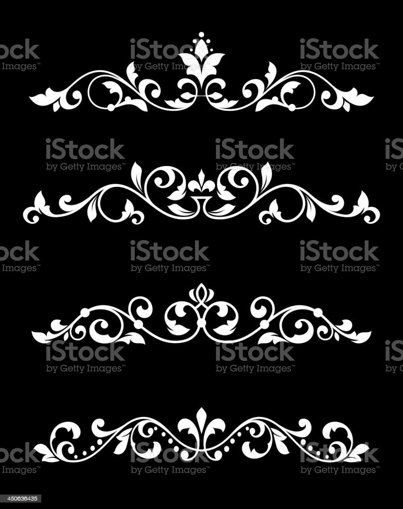Borders and dividers in retro style royalty-free stock vector art