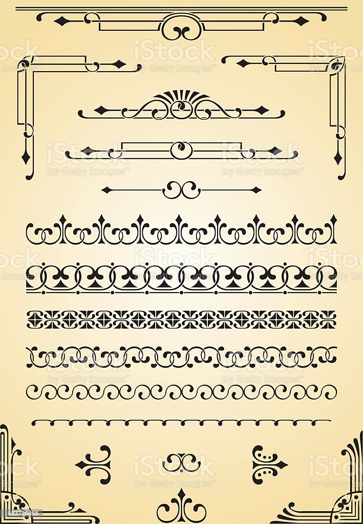 Borders, Corners & Dividers royalty-free stock vector art