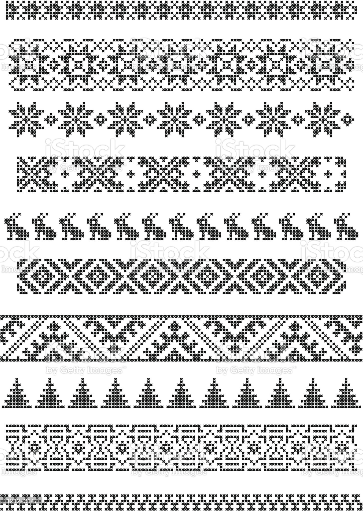 borders, embroidery royalty-free stock vector art