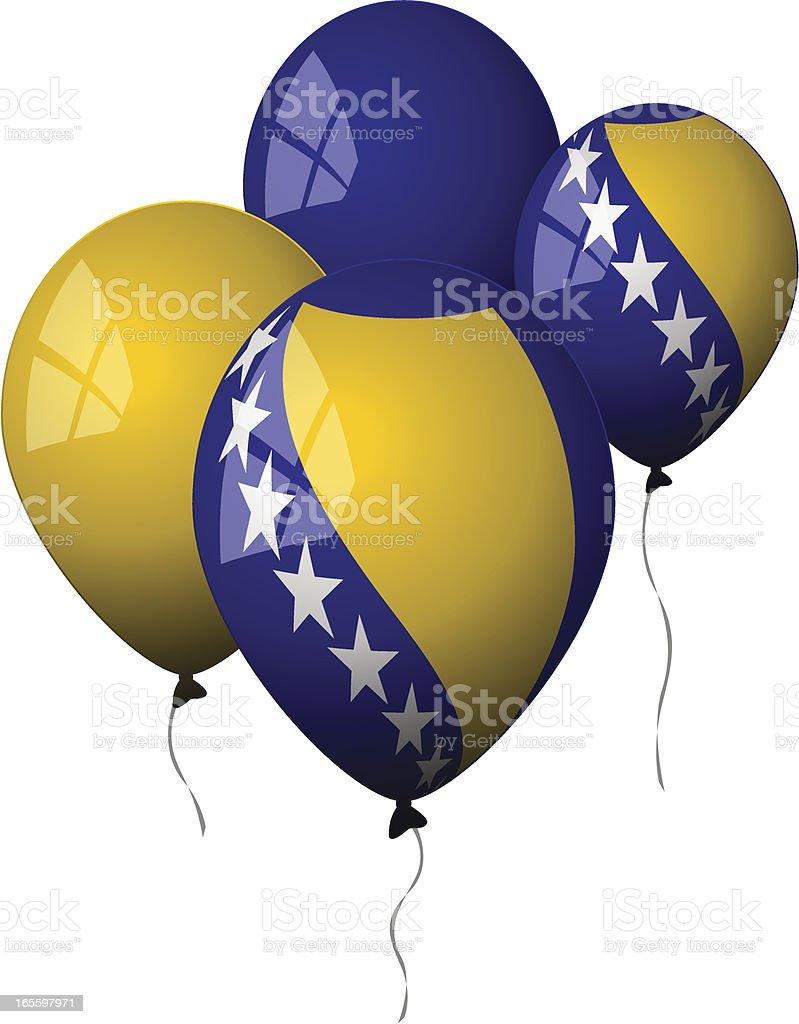 Bosnia and Herzegovina - Balloon royalty-free stock vector art