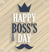 Boss Day wooden poster