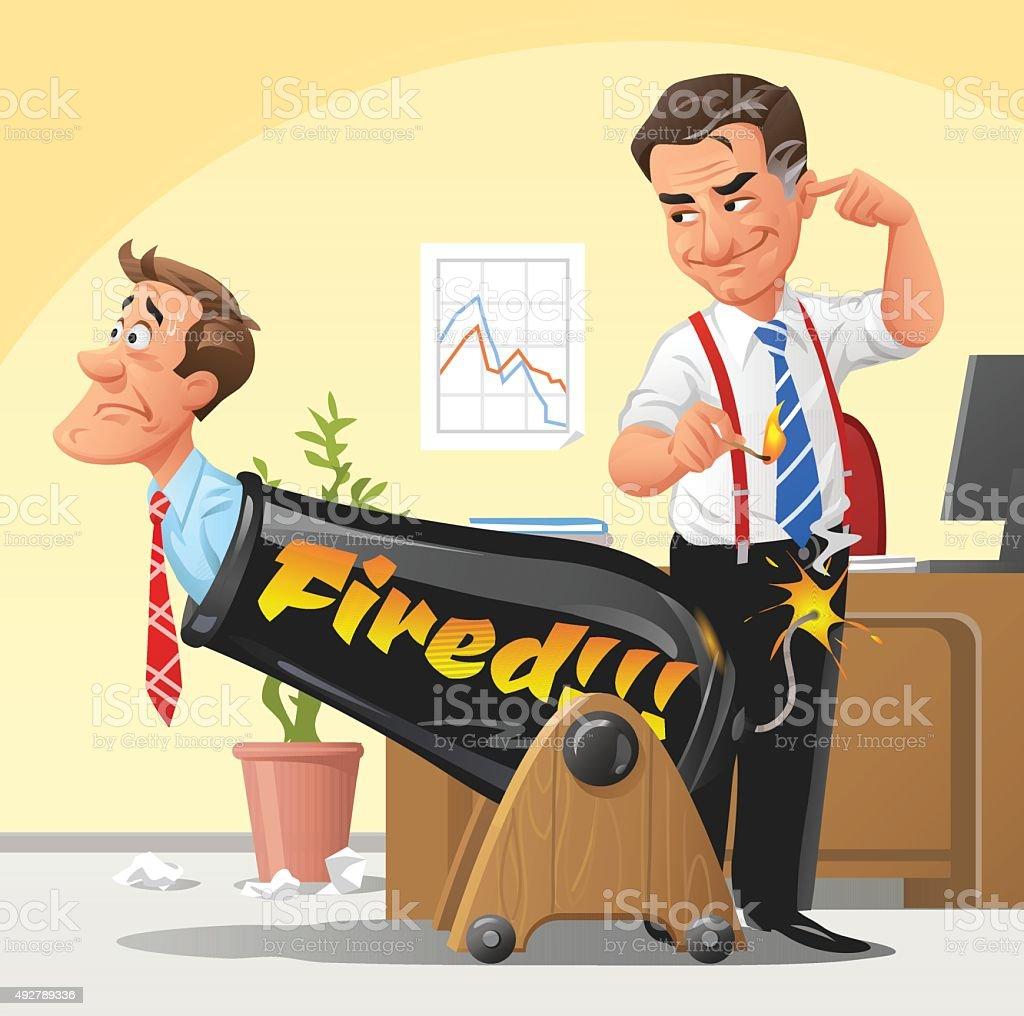 Boss Firing Employee vector art illustration
