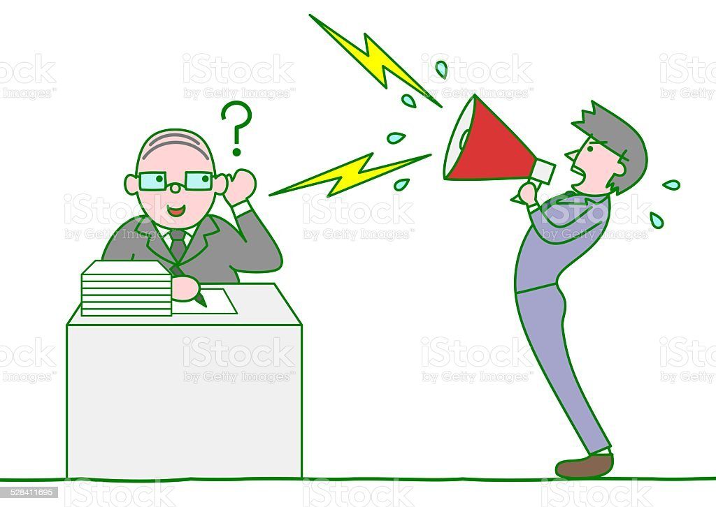 Boss ignoring the subordinates complain vector art illustration