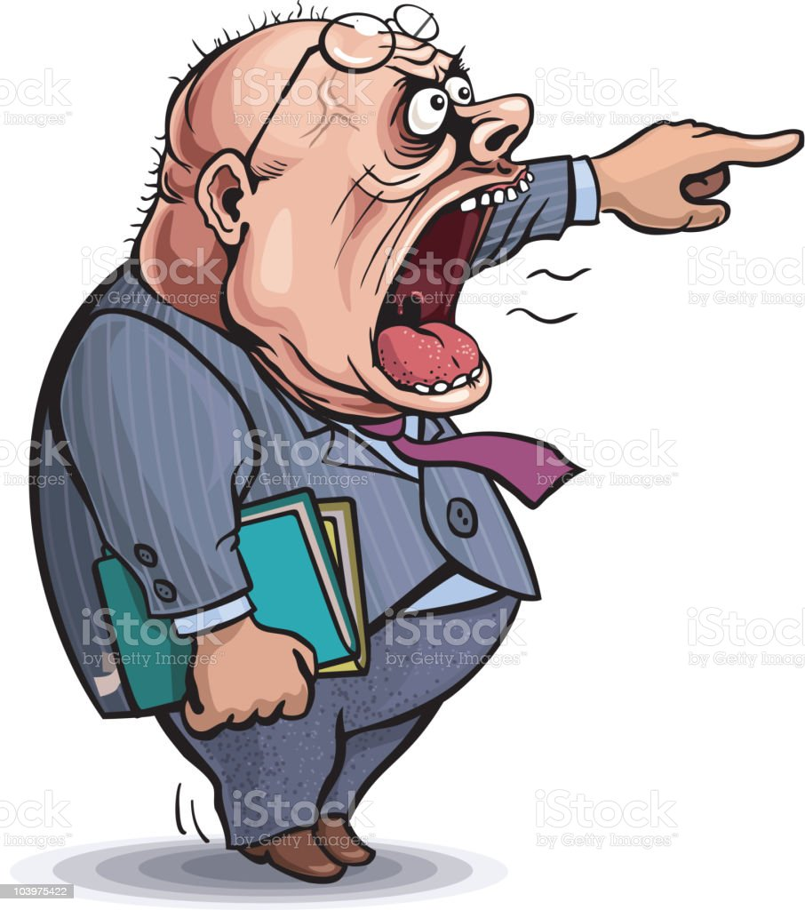 Boss vector art illustration