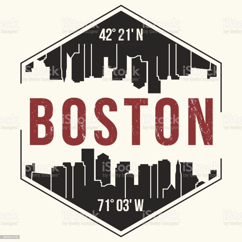 Tshirt design - Boston City Graphic T Shirt Design Tee Print Typography Emblem