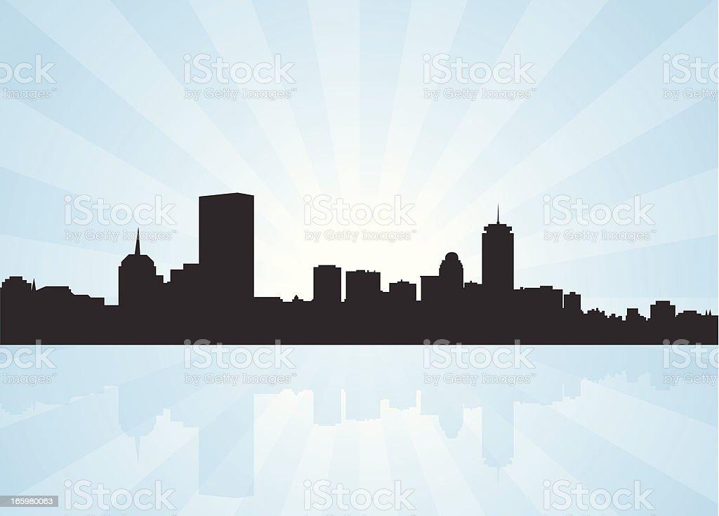 Boston Massachusetts Skyline royalty-free stock vector art
