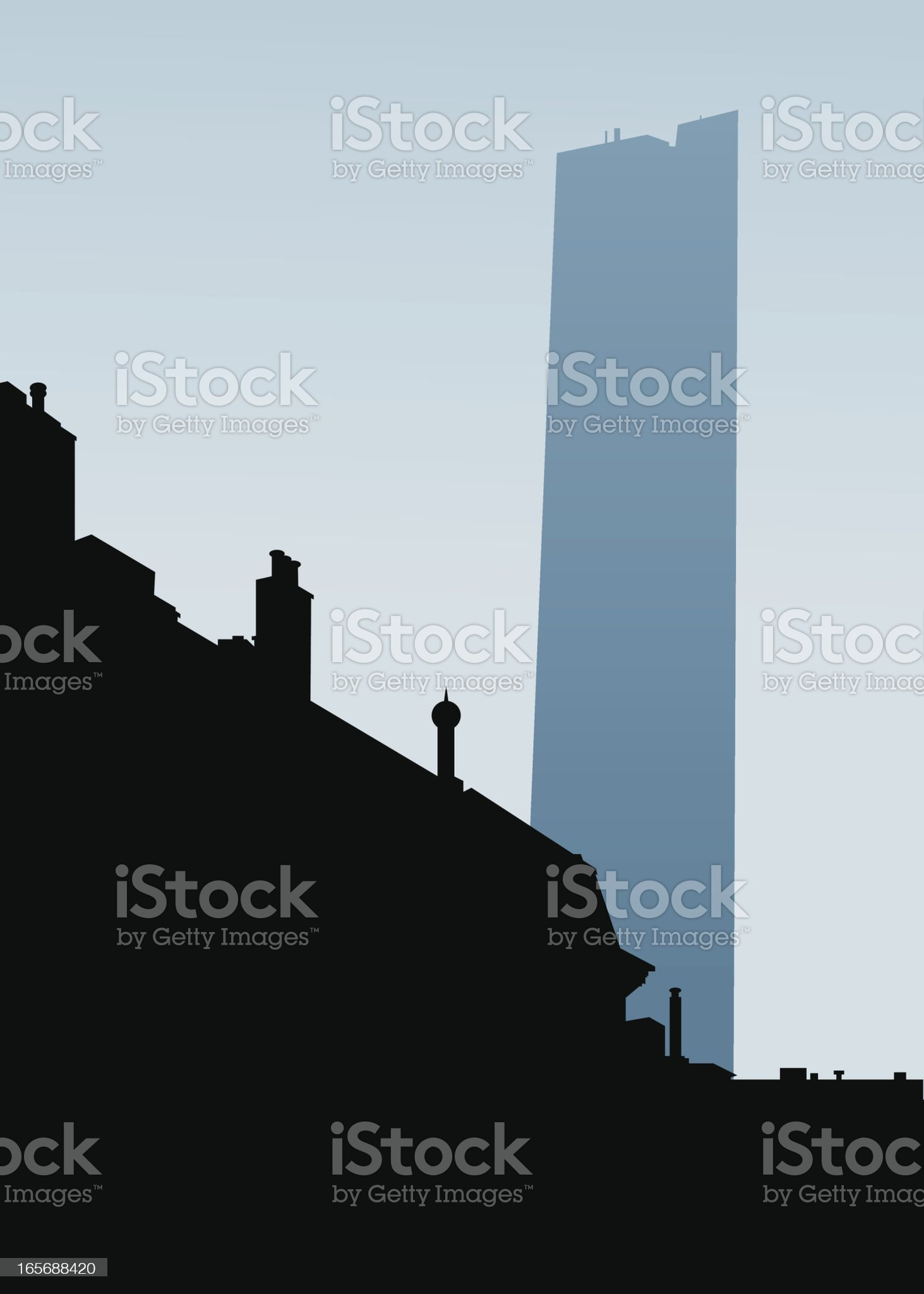 Boston Silhouette royalty-free stock vector art
