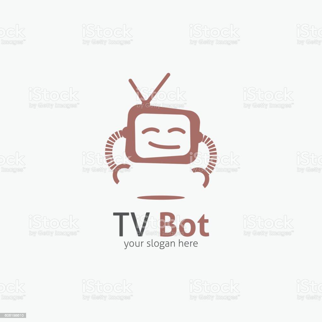 TV Bot Logo vector art illustration