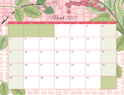 March Month Clip Art, Vector Images & Illustrations - iStock