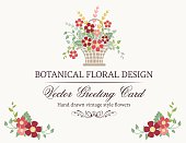 Botanical Flowers Invitation Template