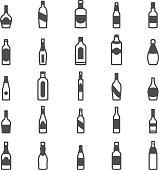 Bottle alcohol icons