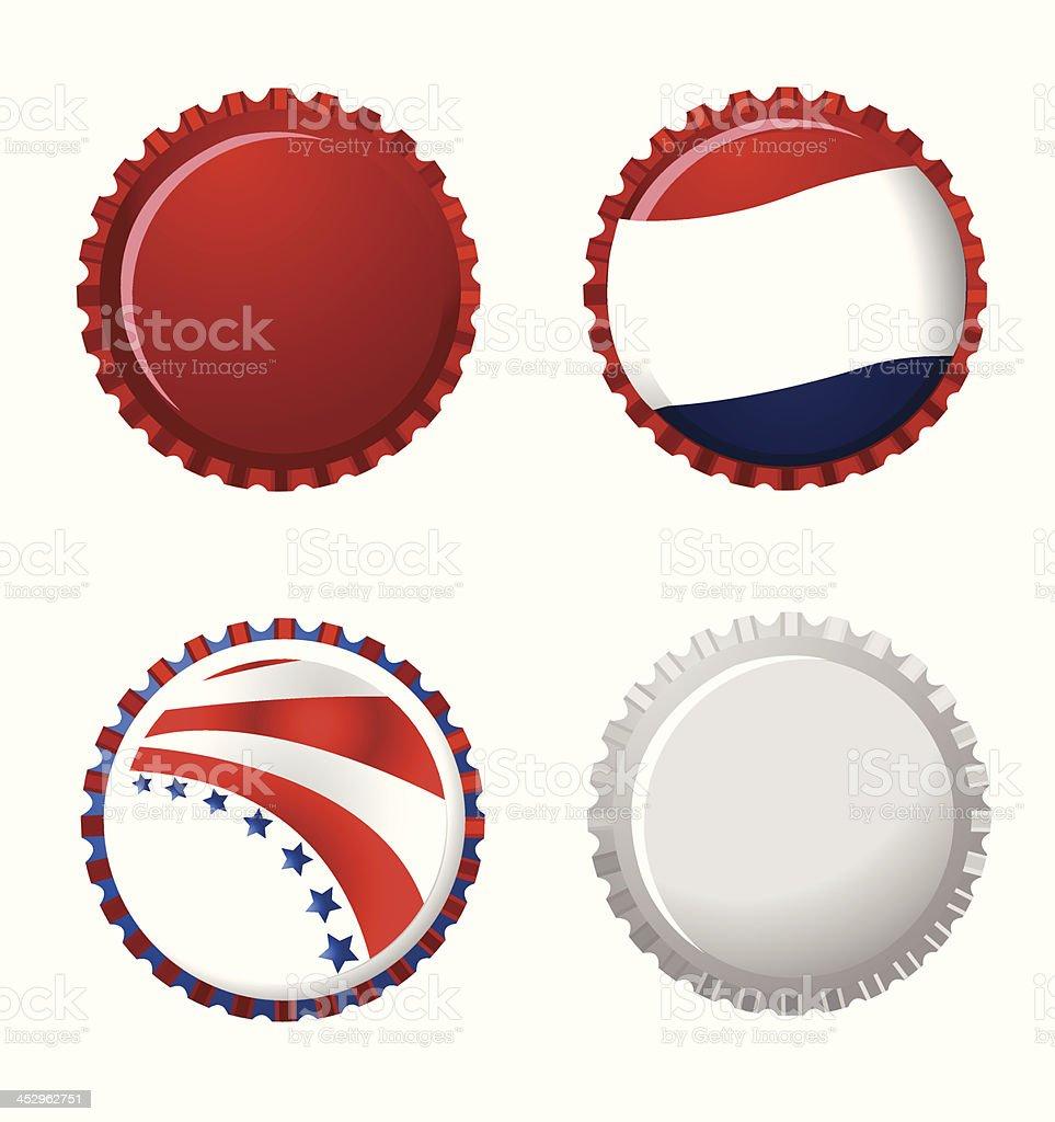 Bottle Caps royalty-free stock vector art