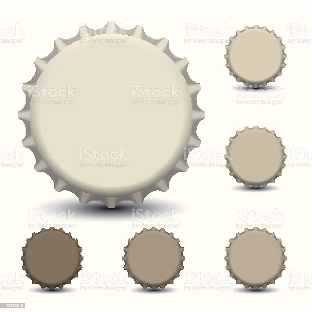 Bottle caps vector isolated on white background vector art illustration