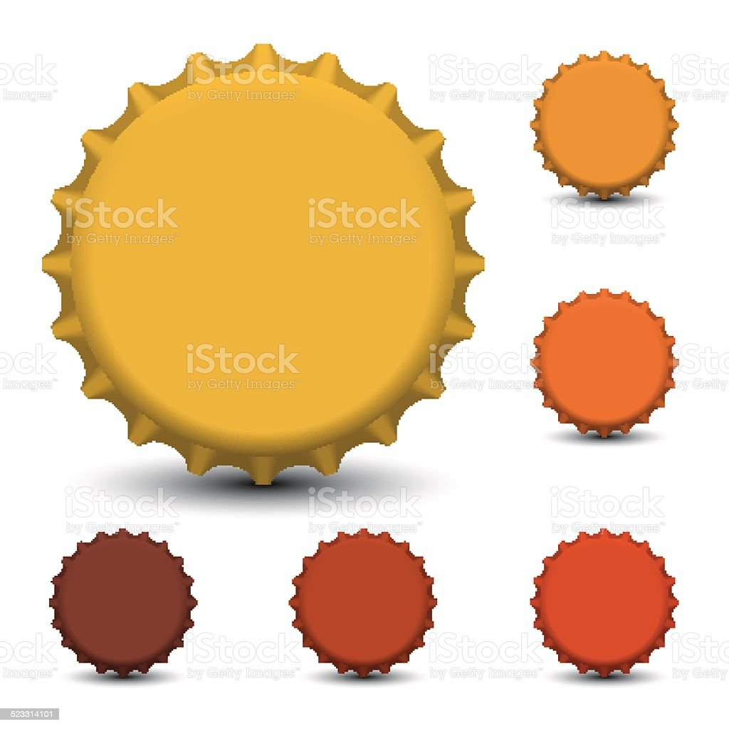 Bottle caps vector vector art illustration