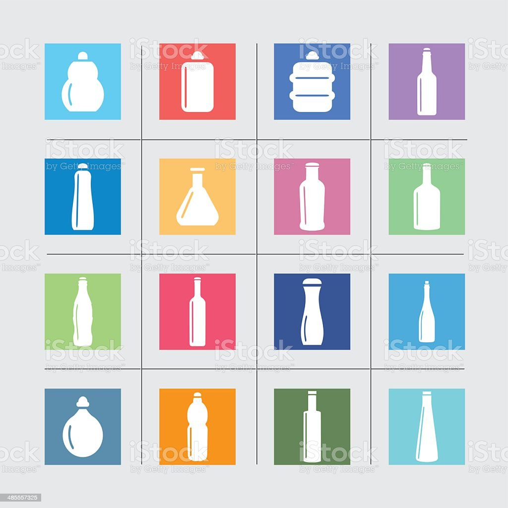 Bottle Collection Color harmony  EPS10 vector art illustration