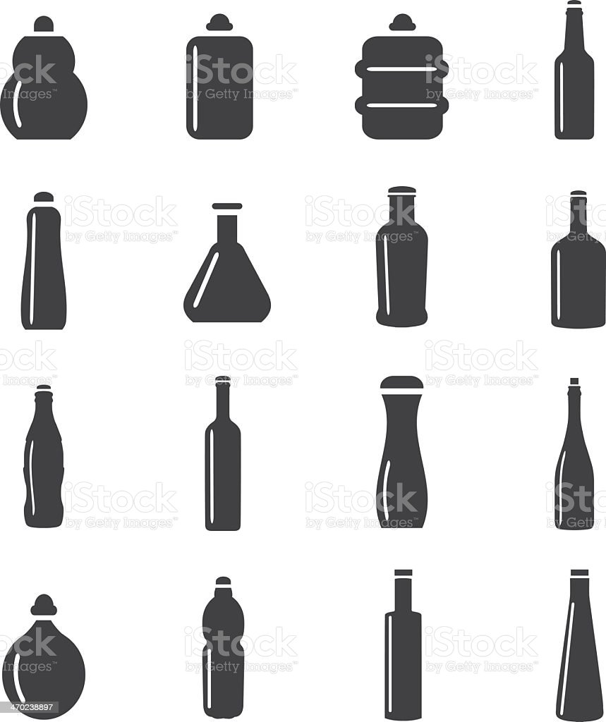 Bottle Collection Mono Color icons vector art illustration