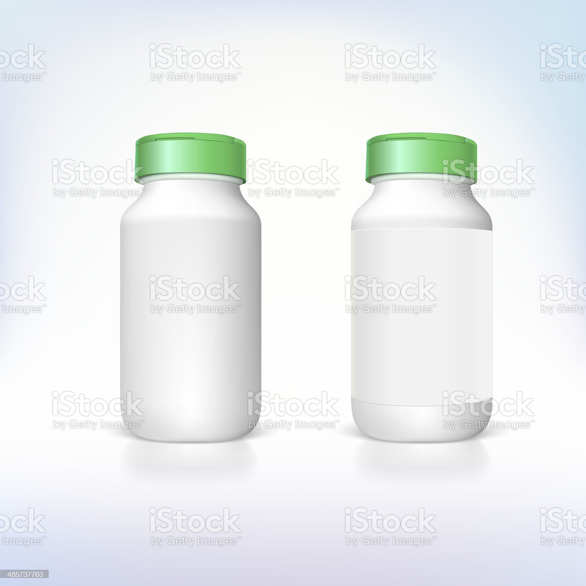 Bottle for dietary supplements and medicines. royalty-free stock vector art