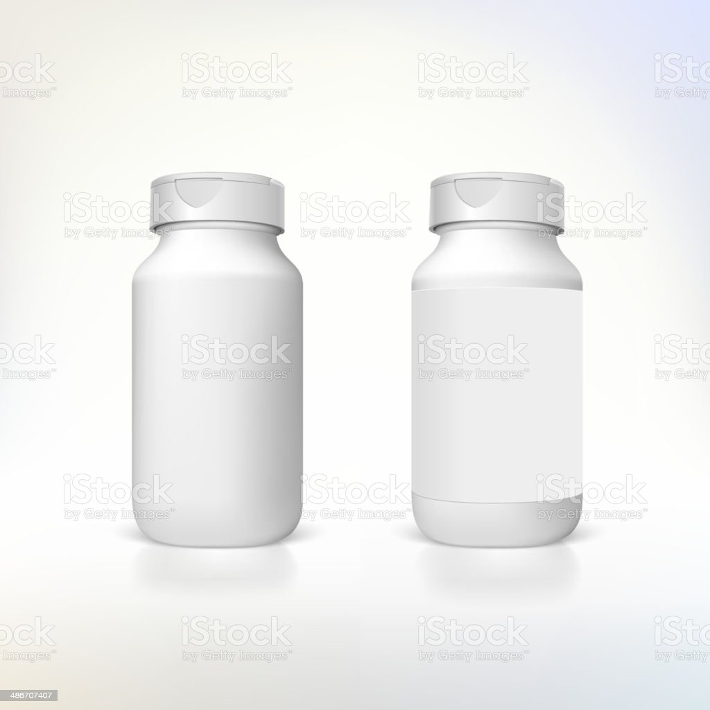 Bottle for dietary supplements and medicines. vector art illustration