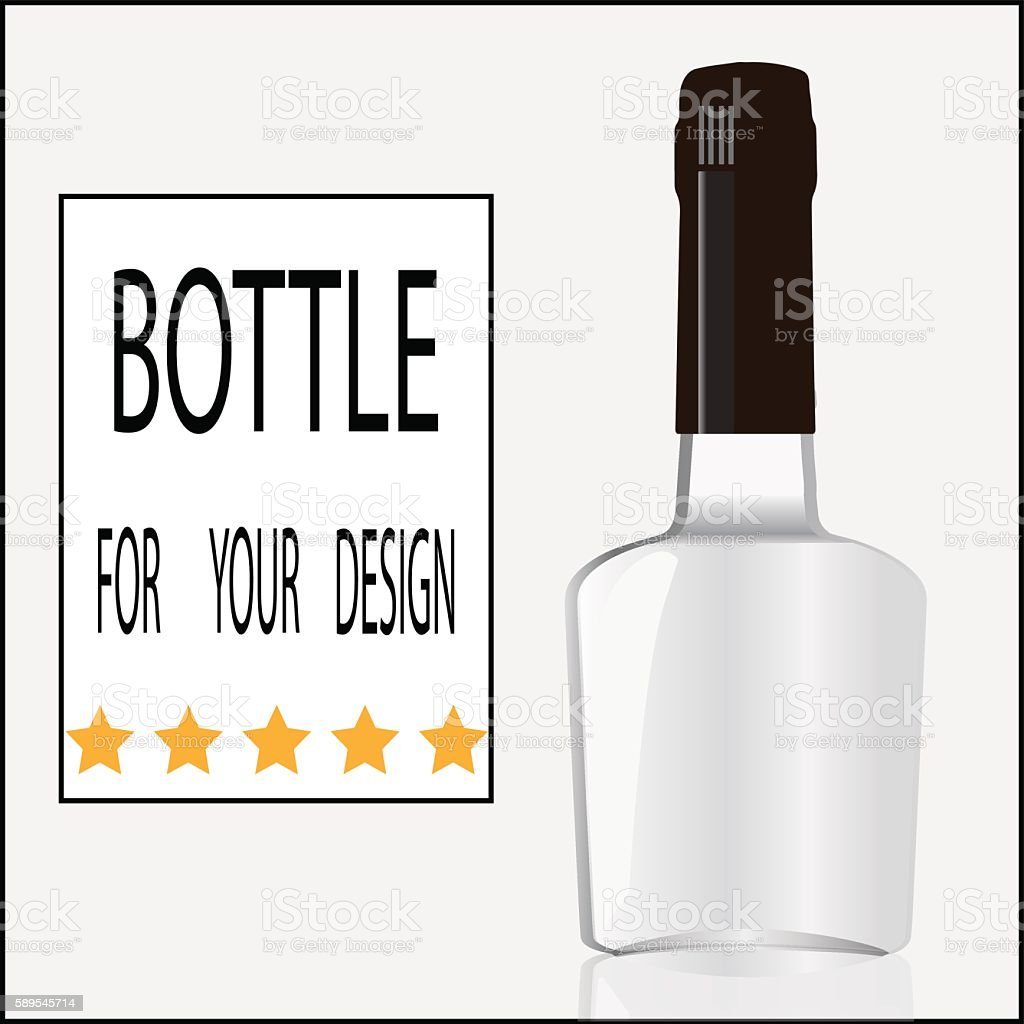 Bottle for your design vector art illustration