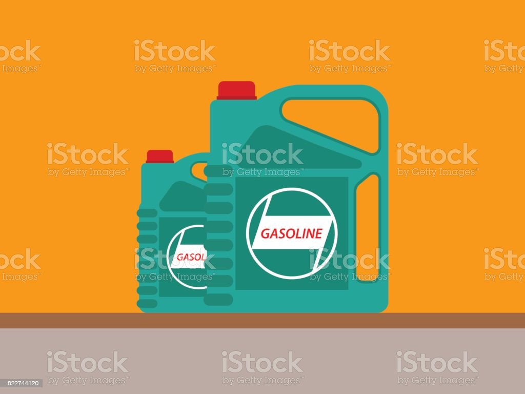 Bottle Gasoline Motor Oil Icon Vector Flat vector art illustration