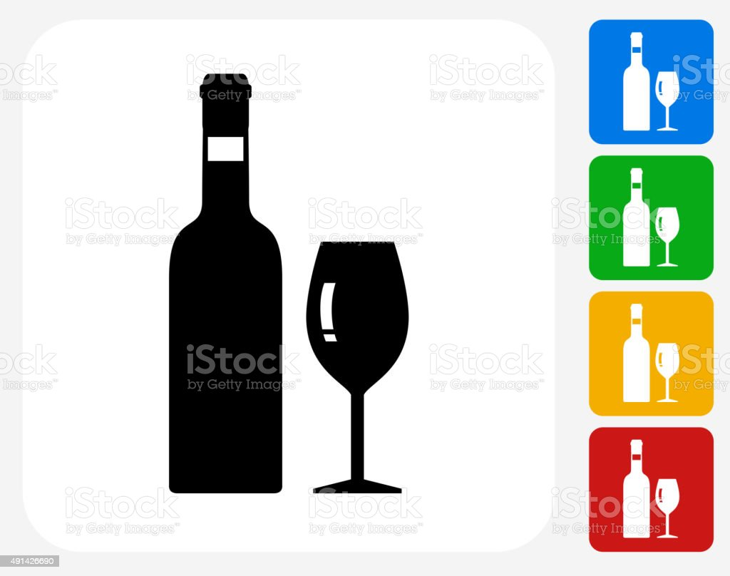 Bottle Icon Flat Graphic Design vector art illustration