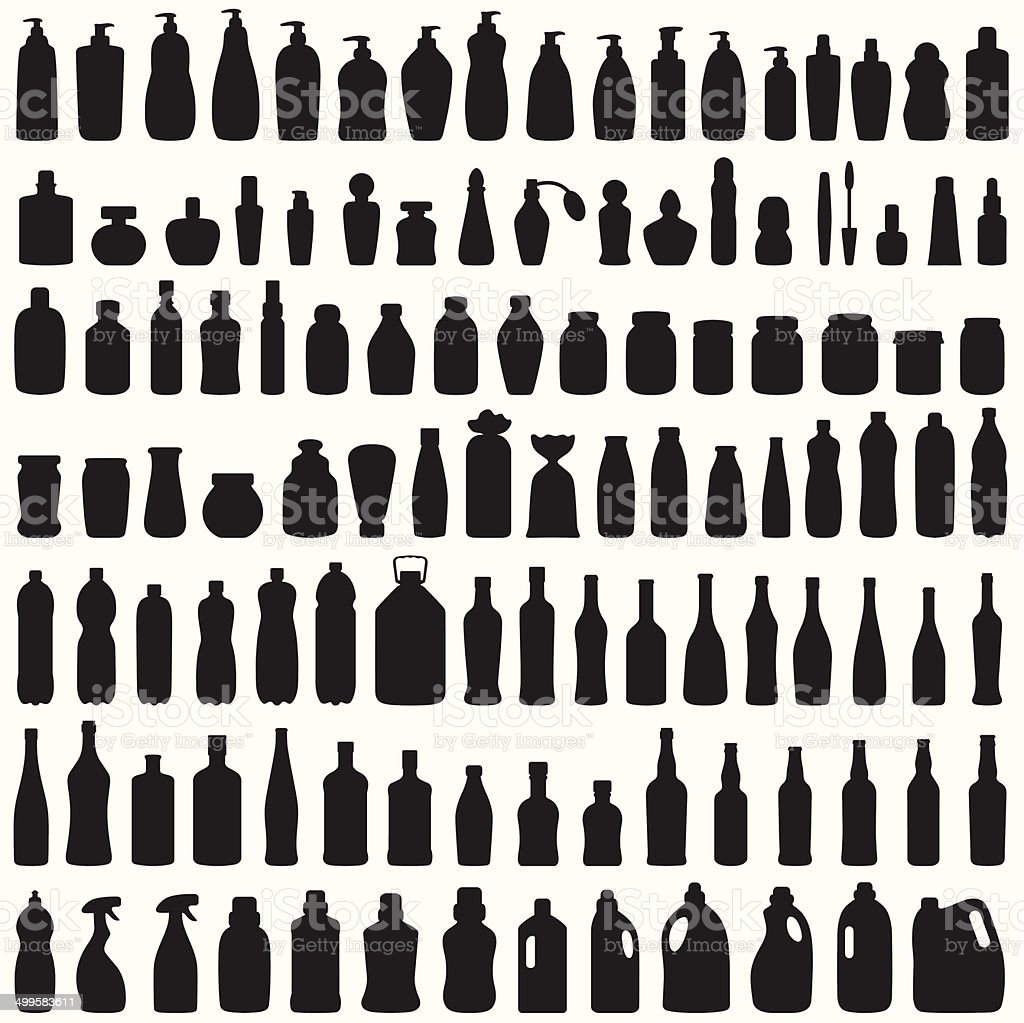 bottle icon vector art illustration