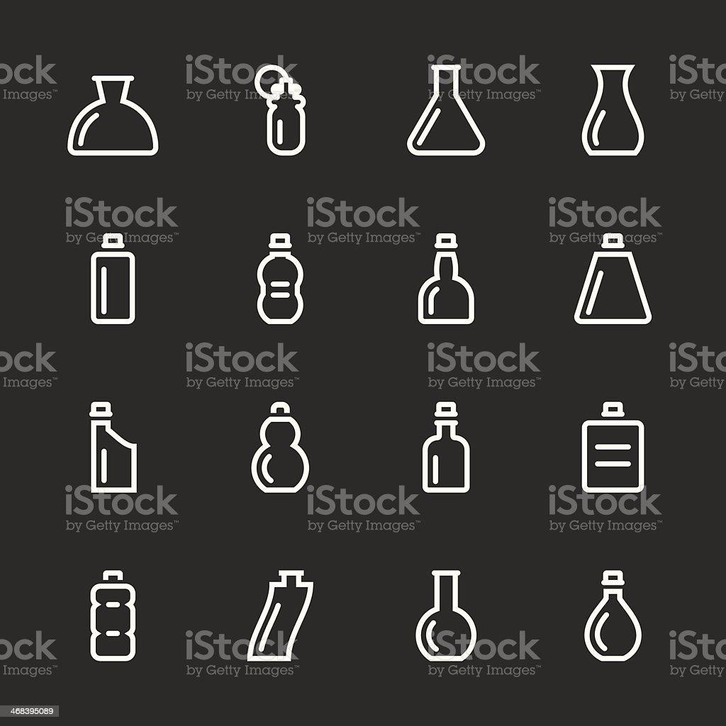 Bottle Icons Set 4 - White Series royalty-free stock vector art