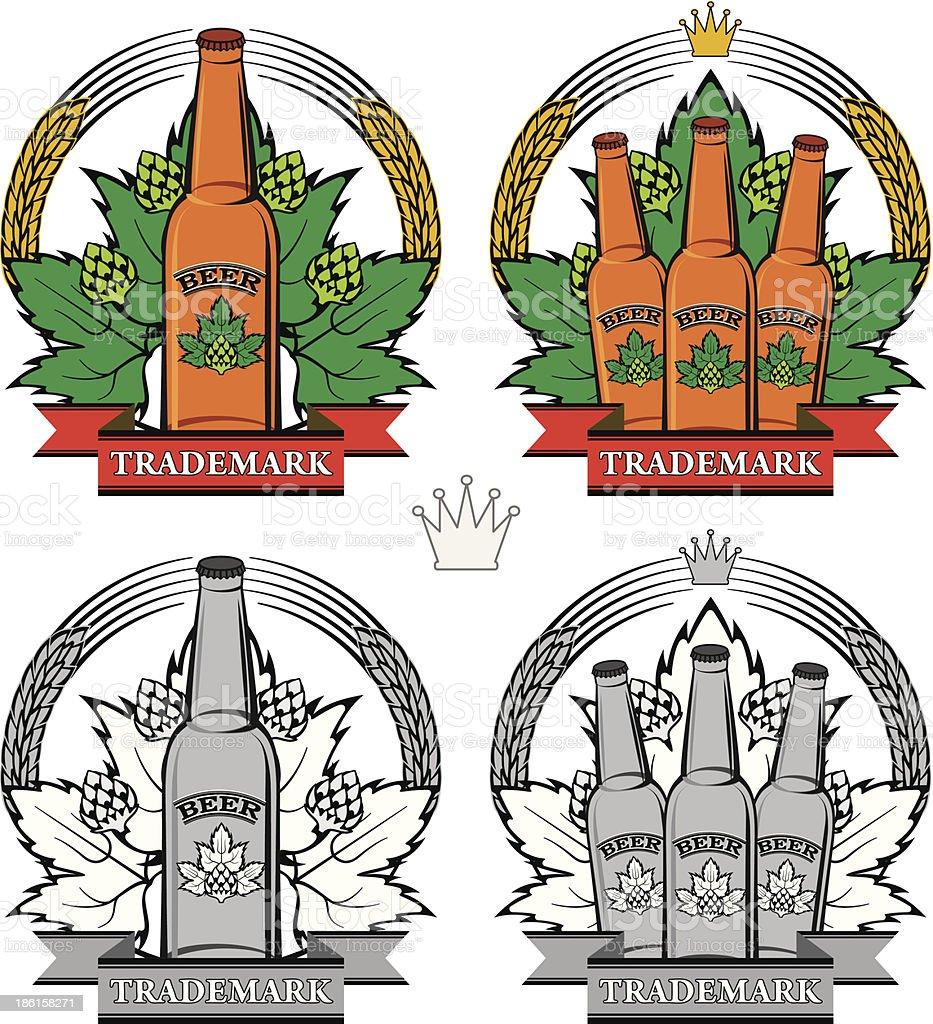 bottle of beer royalty-free stock vector art