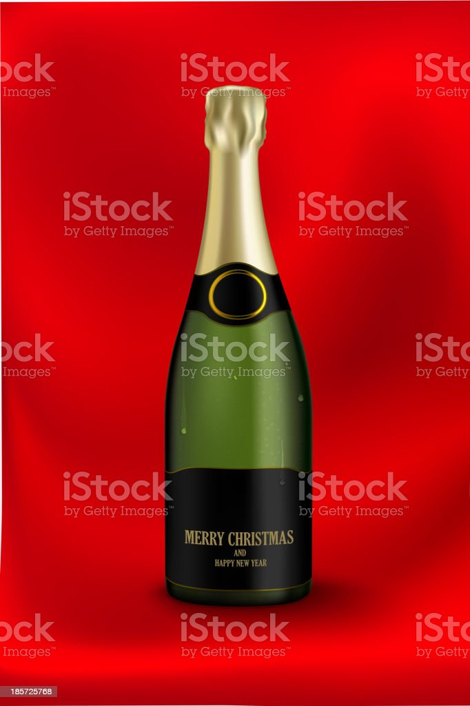 bottle of champagne royalty-free stock vector art