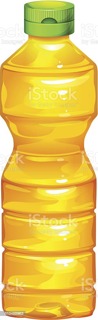 Bottle of cooking oil vector art illustration