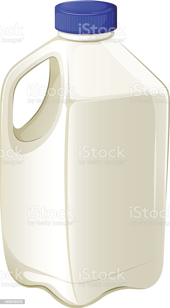 Bottle of milk vector art illustration